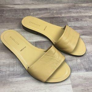 Everlane Nude Beige Flat Leather Sandals